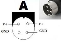 4 Pin DIN Plug configuration A Type