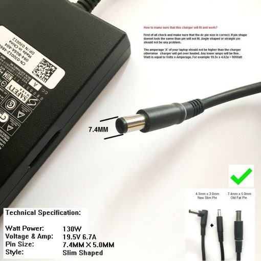 130W-Charger-for-Dell-Alienware-13-R2-Alienware-Alpha-ASM100-SS-193257378621