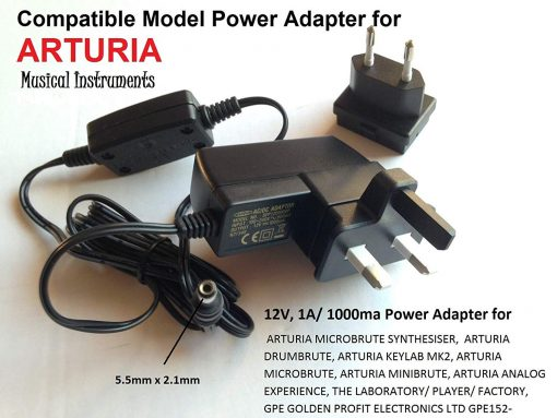 12V-1A-05A-Power-Adapter-for-ARTURIA-MICROBRUTE-SYNTHESISER-DRUMBRUTE-KEYLAB-MK2-MICROBRUTE-MINIBRUTE-ANALOG-EXP-B073KW91T4