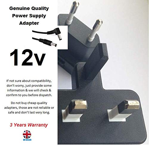 12V-Power-Adapter-for-Slimming-World-Scale-M-510-SW-BT-Marsden-M-510-Digital-Portable-Scale-55mm-X-25mm-Tip-3-YEARS-B07K5ZCB4G