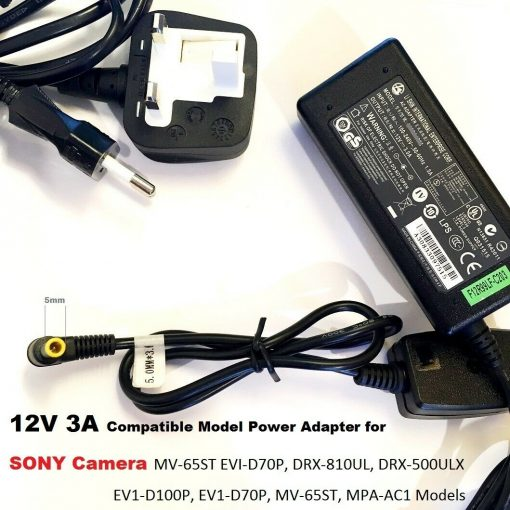 12V-3A-Adapter-for-Sony-Camera-DRX-810UL-DRX-500ULX-EV1-D100P-5030-Tip-192953221232