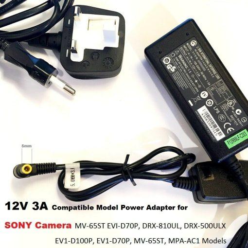 12V-3A-Adapter-for-Sony-Camera-EV1-D70P-MV-65ST-MPA-AC1-5030-Tip-192953221453