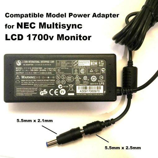 19V-Adapter-for-NEC-Multisync-LCD-1700v-Monitor-Compatible-LI-Shin-LSE9901B1970-192901594494