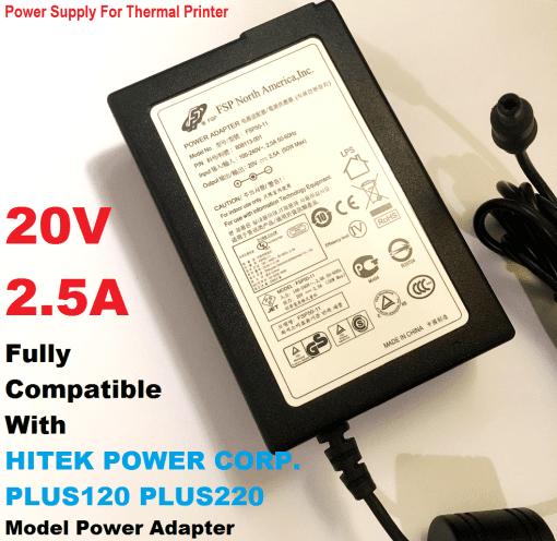 20V-25A-Power-Adapter-for-20v-HITEK-ZEBRAELTRON-Thermal-Printer-Charger-193205630055