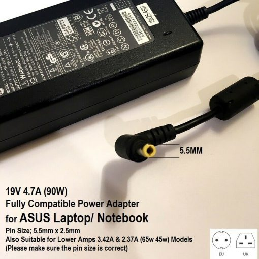 19V-47A-5525-Tip-90W-Charger-for-Asus-Laptop-NX-Series-See-Description-193295814167