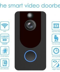 Weather-Proof-Smart-Wireless-All-in-One-Video-Door-Bell-Batteries-Chime-WiFi-193086592587