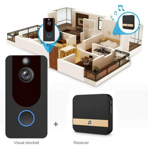 Weather-Proof-Smart-Wireless-All-in-One-Video-Door-Bell-Batteries-Chime-WiFi-193086592587-4