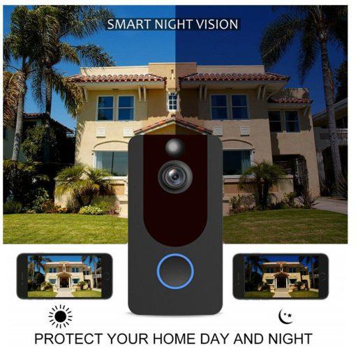 Weather-Proof-Smart-Wireless-All-in-One-Video-Door-Bell-Batteries-Chime-WiFi-193086592587-6