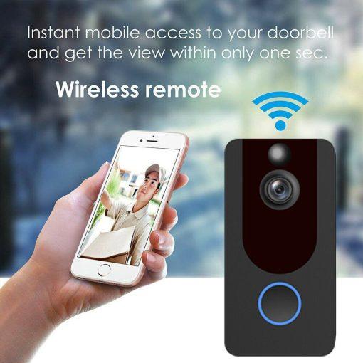 Weather-Proof-Smart-Wireless-All-in-One-Video-Door-Bell-Batteries-Chime-WiFi-193086592587-7