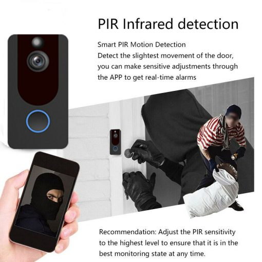 Weather-Proof-Smart-Wireless-All-in-One-Video-Door-Bell-Batteries-Chime-WiFi-193086592587-8