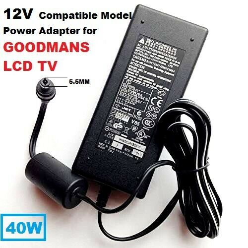 12V-Adapter-for-Goodmans-TV-LD1547D-Compatible-with-40W-ISO-AC-Adapter-KPA-040F-193216929449