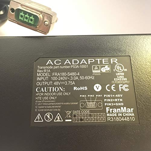 AC-Adapter-48V-375A-Transmode-Part-Number-PS3A-10001-REV-R1A-FRA180-S480-4-LOT-REF-22-B07R87WV88