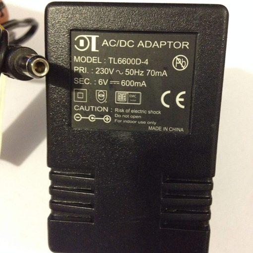 ACDC-ADAPTOR-6V-600MA-TL6600D-4-55MM-X-25MM-TIP-LOT-REF-52-B0719F5Y3M