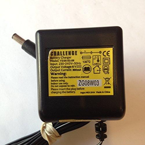 CHALLENGE-BATTERY-CHARGER-6V-300MA-55MM-X-21MM-TIP-YD35-02-04-LOT-REF-52-B01LVTIHP1