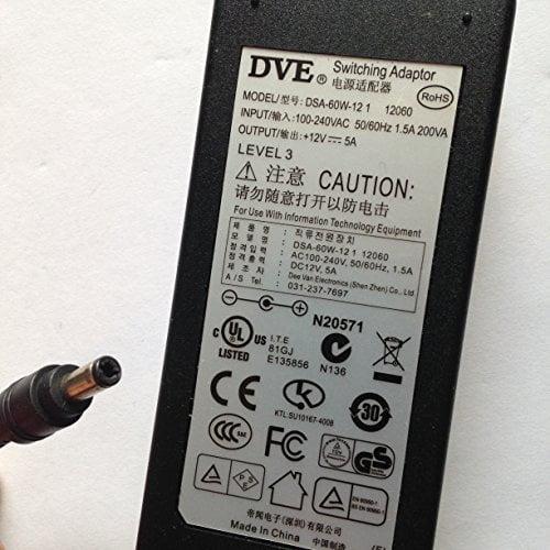 DVE-12V-5A-DSA-60W-12-1-55MM-X-25MM-TIP-LOT-REF-08-B078PLMLF9