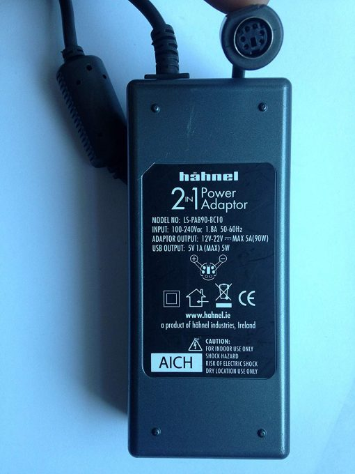 HAHNEL-2-IN1-POWER-ADAPTOR-LS-PAB90-BC10-12V-22V-5A-MAX-5V1A-5W-SET-OF-DC-BITS-NOT-INCLUDED-LOT-REF-23-B071LRKRMF