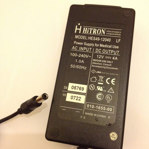 HITRON-12V-4A-HES49-12040-POWER-SUPPLY-FOR-MEDICAL-USE-55MM-X-25MM-TIP-LOT-REF-08-B06X6KP2CJ