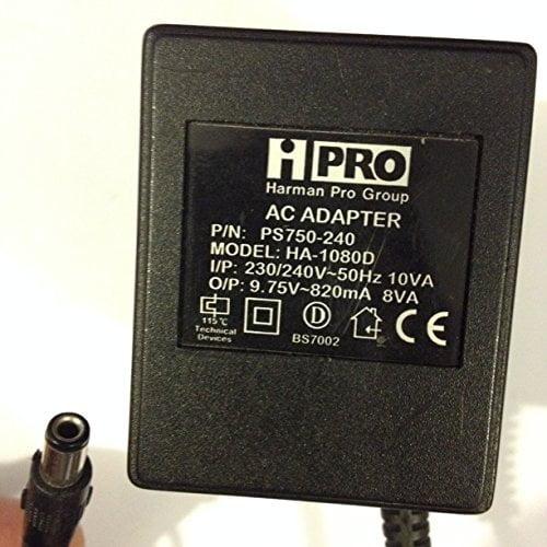 HPRO-AC-ADAPER-HARMAN-PRO-GROUP-975V-820MA-HA-1080D-PS750-240-55MM-X-25MM-TIP-LOT-REF-54-B071VP95N9