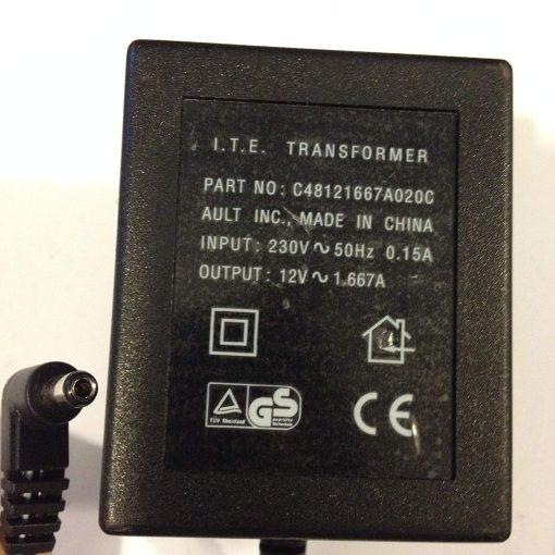 ITE-TRANSFORMER-12V-AC-1667A-55MM-X-25MM-TIP-C48121667A020C-LOT-REF-29-B071VP96BX