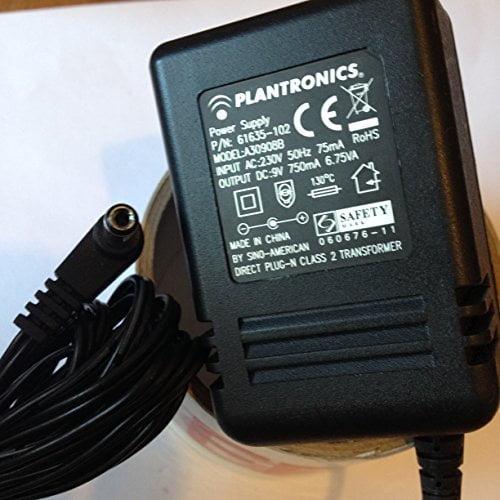 PLANTRONICE-POWER-SUPPLY-9V-750MA-PN-61635-102-A30908B-LOT-REF-54-B01LZ3NKH3