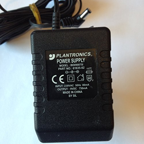 PLANTRONICS-POWER-SUPPLY-9V-750MA-BD0900751-PART-NO-61635-02-LOT-REF-54-B01M02MIRC