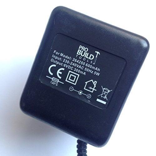 PRO-BUILD-TOOLS-6VDC-300MA-264255-264255-600MAH-55MM-X-25MM-TIP-LOT-REF-52-B071ZK58NY