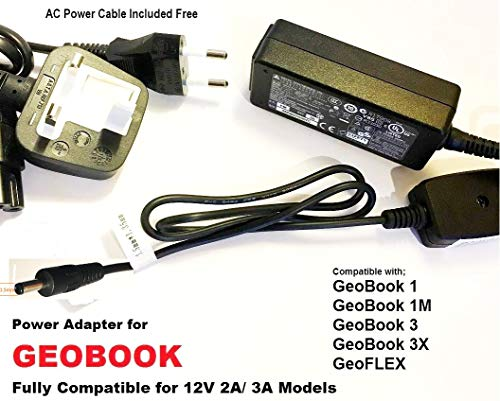 Power-Adapter-for-GeoBook3X-12V-2A-3A-35mm-x-135mm-Tip-Fully-Compatible-Model-Battery-Charger-for-GeoBook-Geo-Boo-B07N6Q2F68