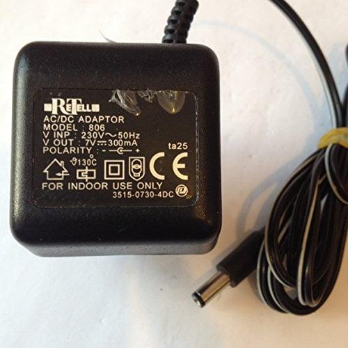 RETELL-ACDC-ADAPTOR-7V-300MA-55MM-X-21MM-TIP-MODEL-806-LOT-REF-53-B01LY4I0RY