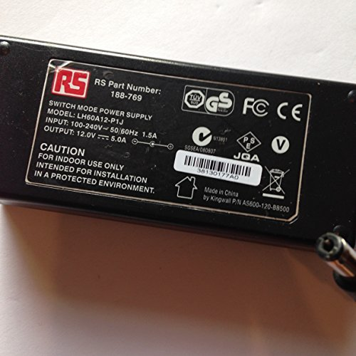 RS-12V-5A-188-769-LH60A12-P1J-55MM-X-21MM-TIP-LOT-REF-08-B078PSVJ8G