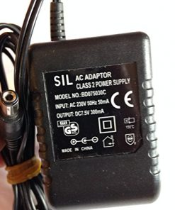 SIL-AC-ADAPTOR-CLASS-2-POWER-SUPPLY-75V-300MA-BD075030C-55MM-X-21MM-TIP-REVERSE-POLARITY-LOT-REF-53-B078R9C2W4