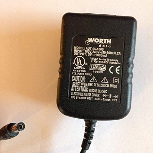 WORTH-DATA-5V-1000MA-AUT-05-1000-55MM-X-21MM-TIP-REVERSE-POLARITY-LOT-REF-30-B078RB5MK7